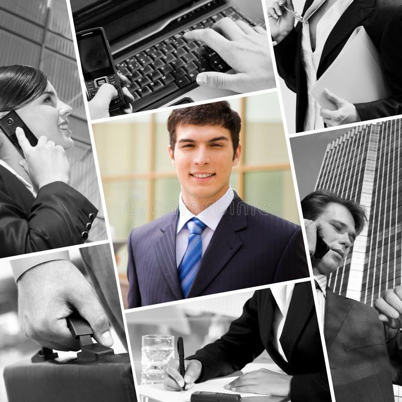 Technologie en mensen in zaken royalty-vrije stock afbeeldingen