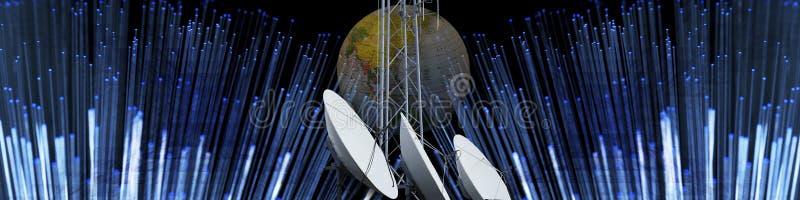 Technologie en moderne mededeling vector illustratie