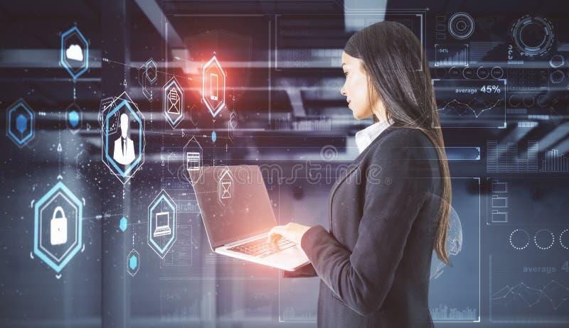 Technologie en toekomstig concept royalty-vrije stock afbeelding