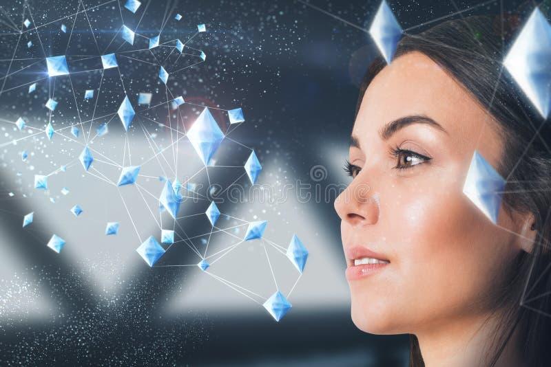 Technologie en toekomstig concept stock foto