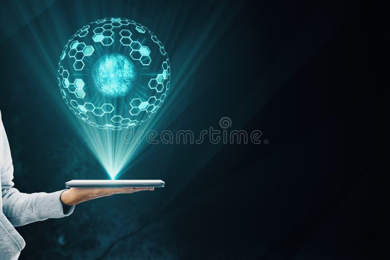 Technologie en toekomstig concept stock afbeeldingen