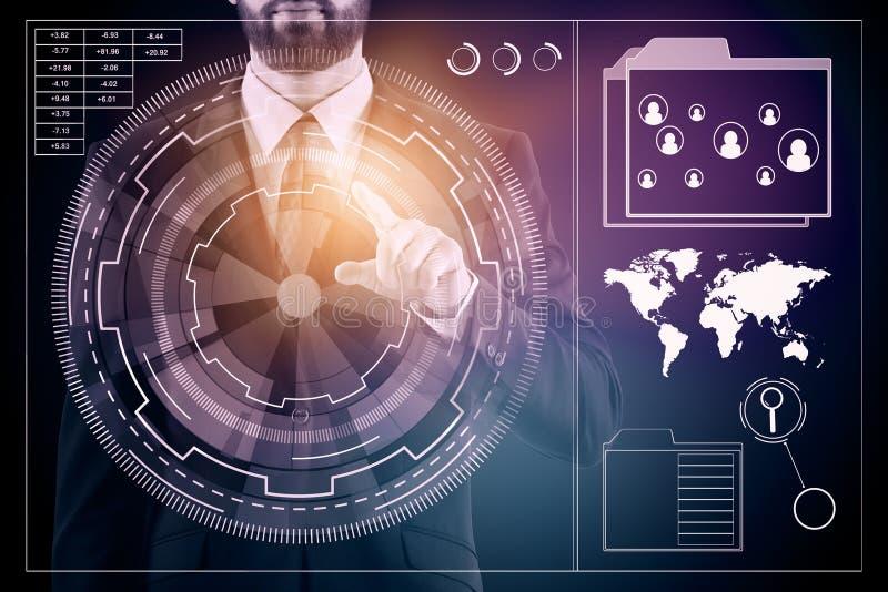 Technologie en voorzien van een netwerkconcept royalty-vrije illustratie