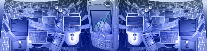 Technologie en zaken WW royalty-vrije stock afbeelding