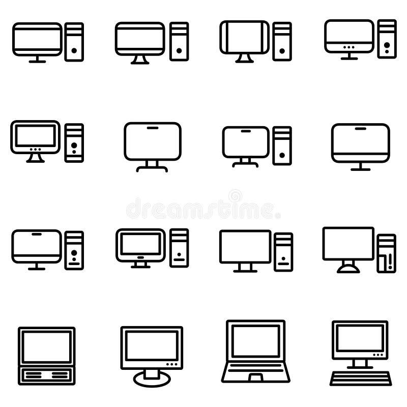 Technologie et icône d'ordinateurs illustration stock