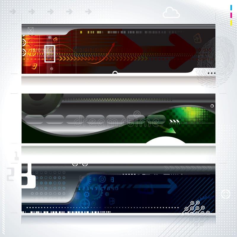 Technologie-Fahne lizenzfreie stockfotos