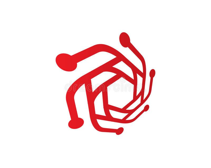 Technologie-Foto Logo Template Design Vector, Embleem, Ontwerpconcept, Creatief Symbool, Pictogram royalty-vrije illustratie