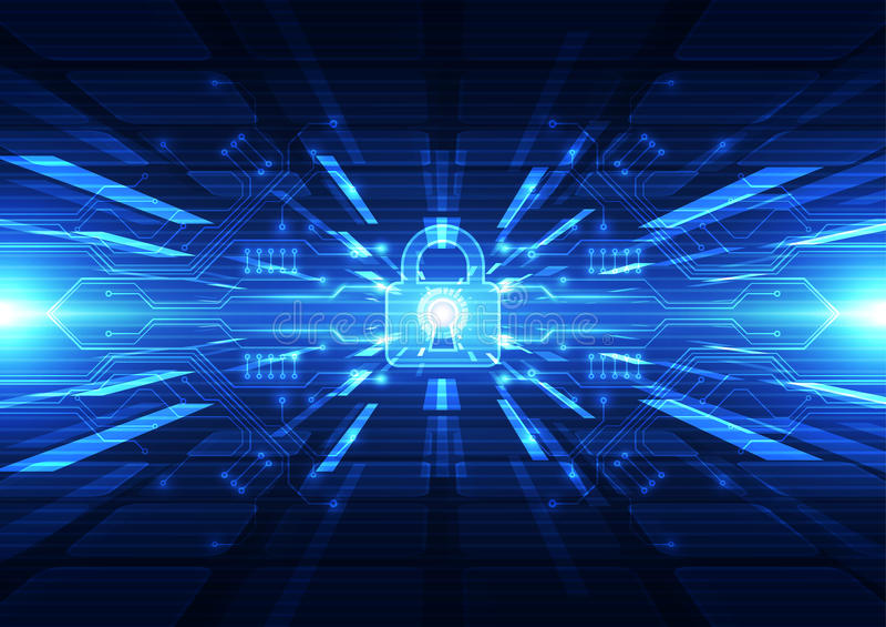 Technologie futuristische digitaal Technologieverbinding Technologieveiligheid abstracte achtergrond Vector royalty-vrije illustratie