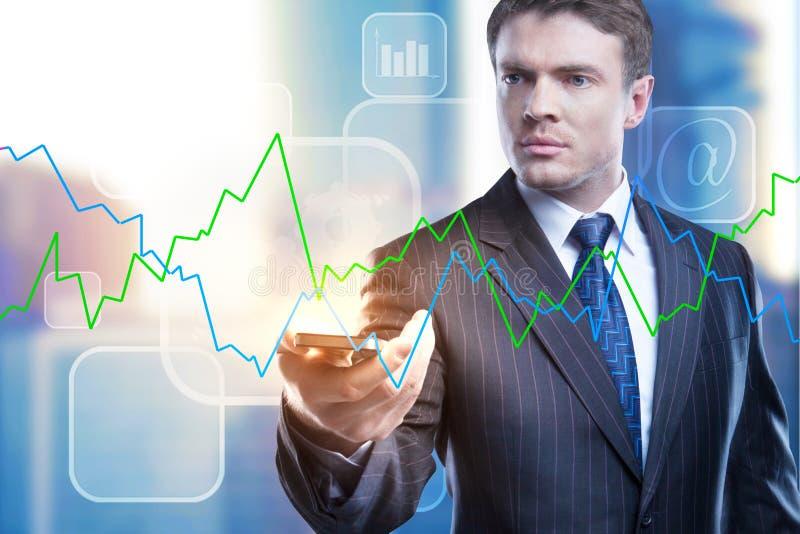 Technologie-, Gerät- und Analytikkonzept stockfotos