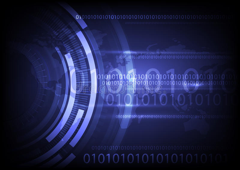 Technologie globale de Digital, fond abstrait illustration stock