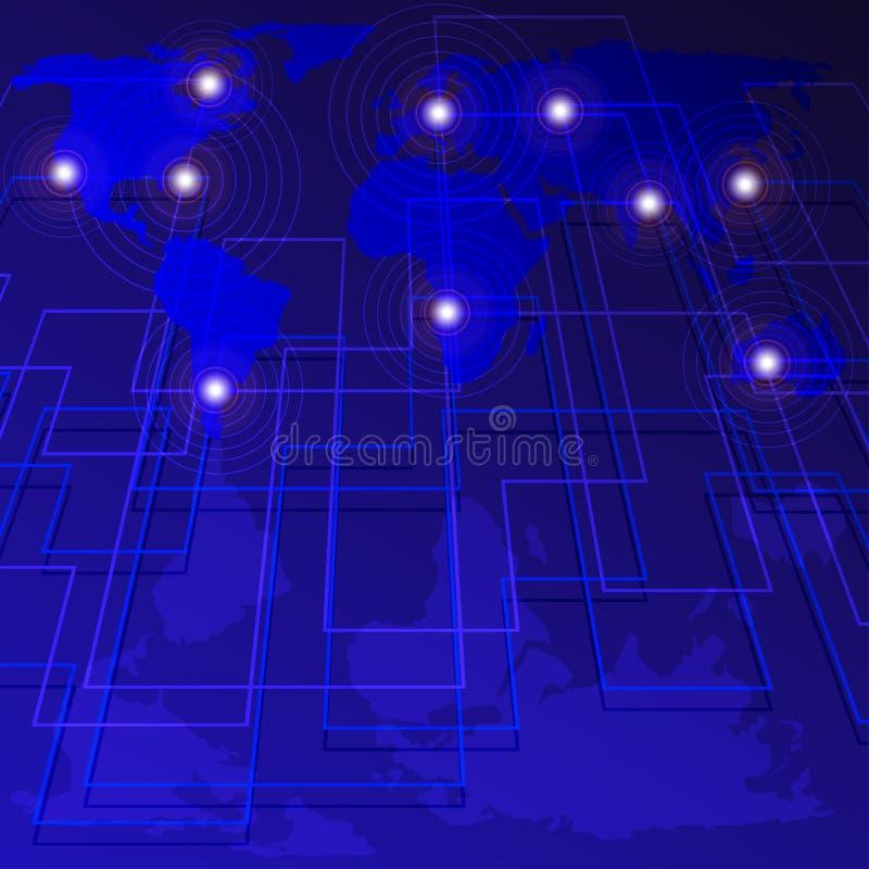 Technologie - Hintergrund stock abbildung