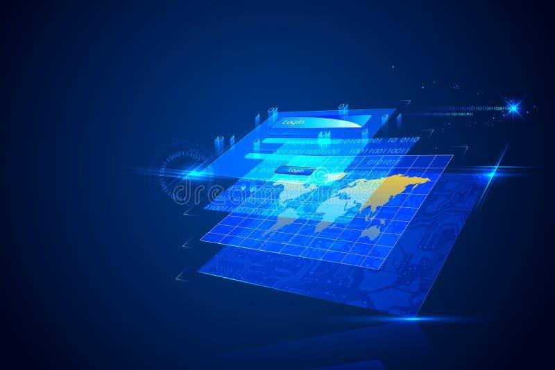 Technologie-Hintergrund vektor abbildung