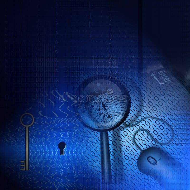 Technologie-Hintergrund lizenzfreie abbildung