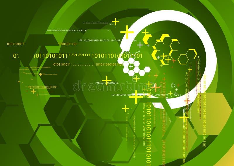 Technologie-Hintergrund-Grün lizenzfreie abbildung