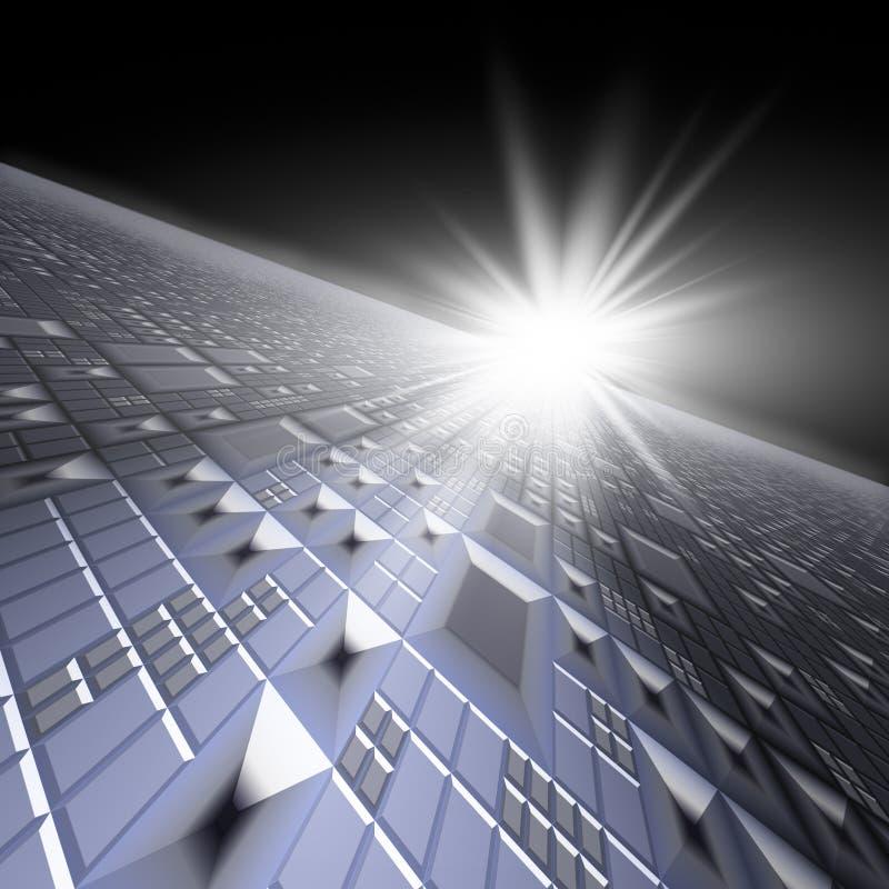 Technologie-Hintergrund-Horizont vektor abbildung