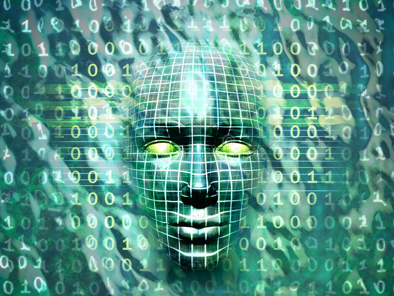 Technologie humaine illustration stock
