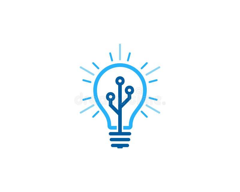 Technologie-Ideepictogram Logo Design Element vector illustratie