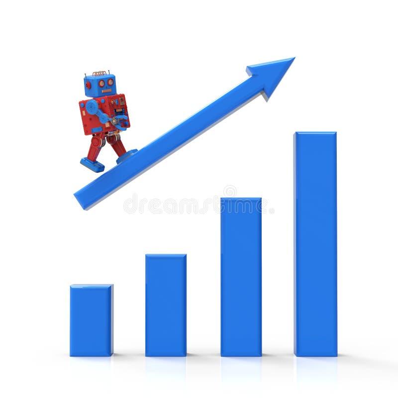 Technologie-industrieel groeiconcept vector illustratie