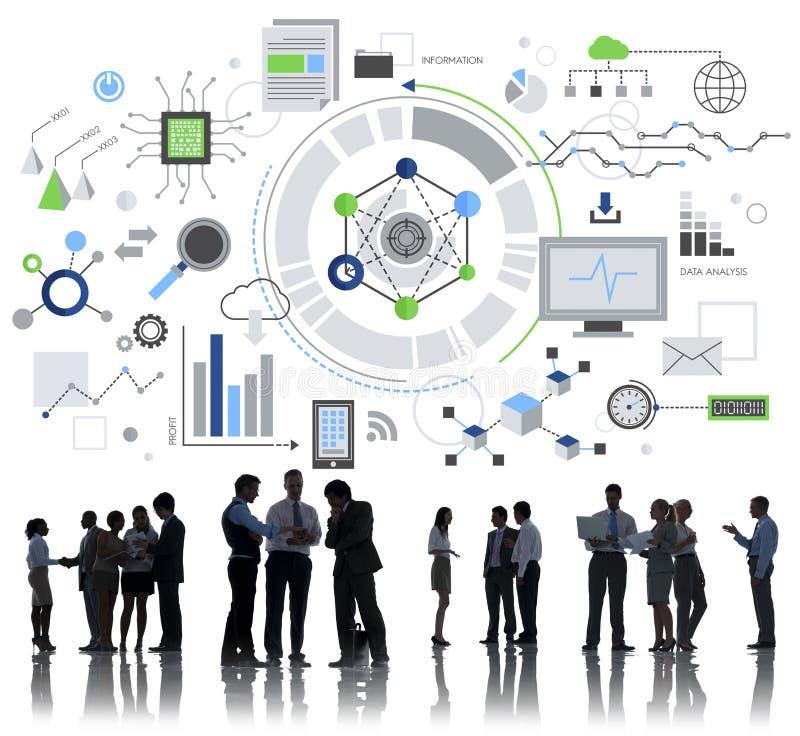Technologie Informacyjne Cyfrowej sieci pojęcie zdjęcia stock