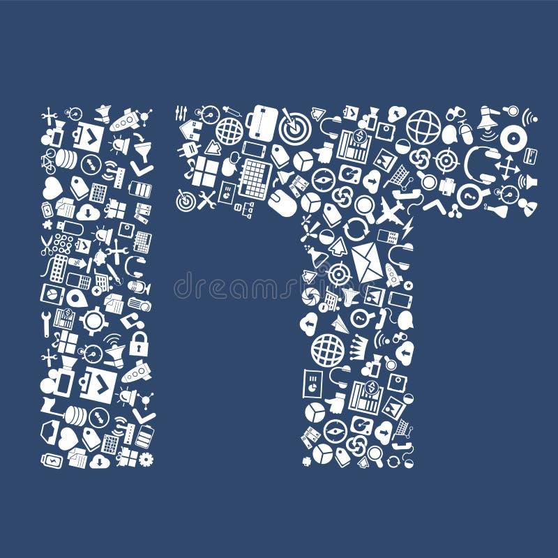 Technologie informacyjne, IT od ikon ilustracja wektor