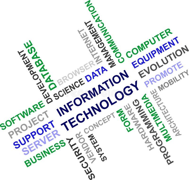 Technologie Informacyjne - słowo chmura royalty ilustracja