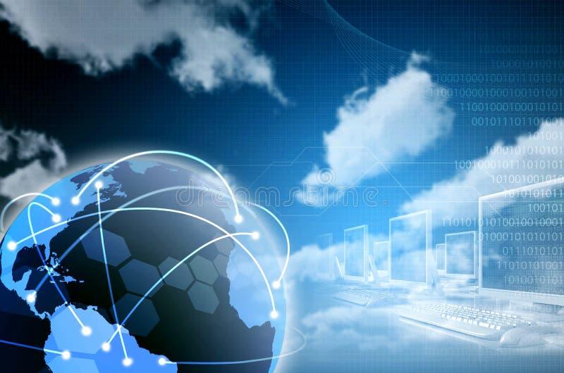 Technologie Informacyjne Tło ilustracji