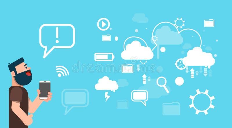 Download Technologie Informatique De Nuage De Données De Part De Tablette De Prise D'homme D'affaires Illustration de Vecteur - Illustration du communiquez, people: 77156931