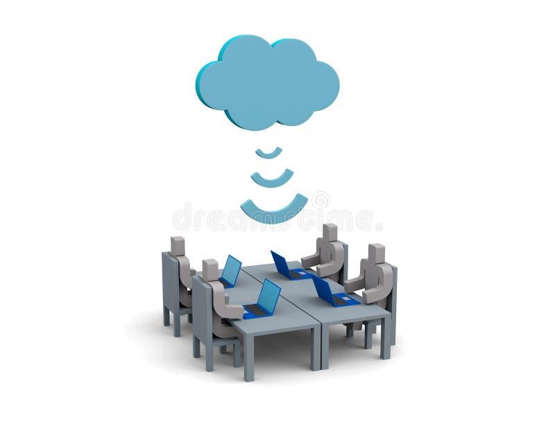 Technologie informatique de nuage illustration stock