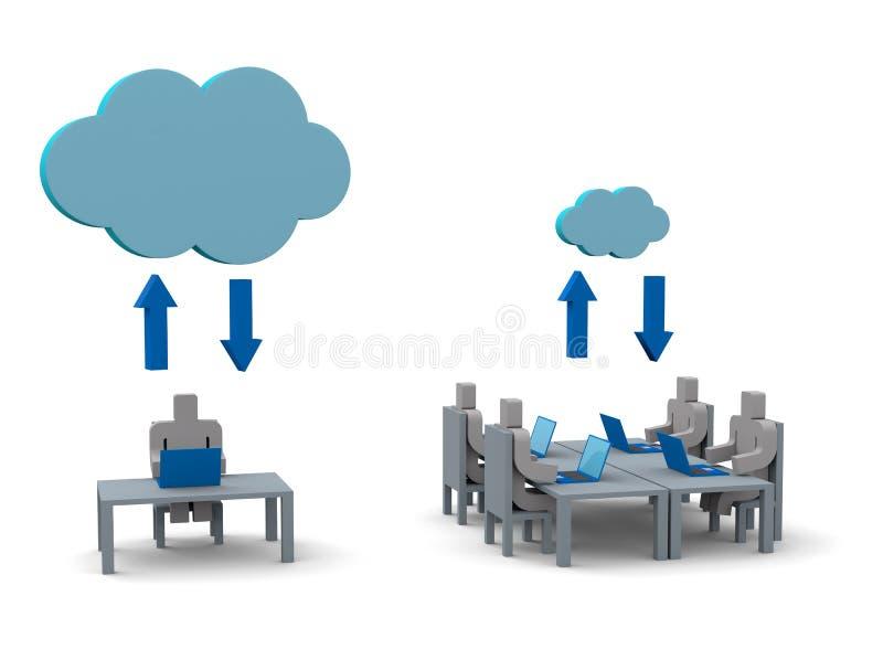 Technologie informatique de nuage illustration libre de droits