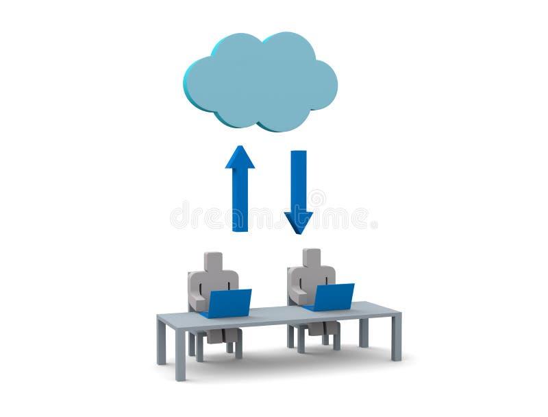 Technologie informatique de nuage illustration de vecteur