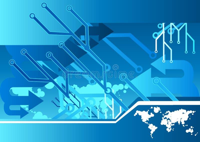 technologie informatyczne ilustracja wektor