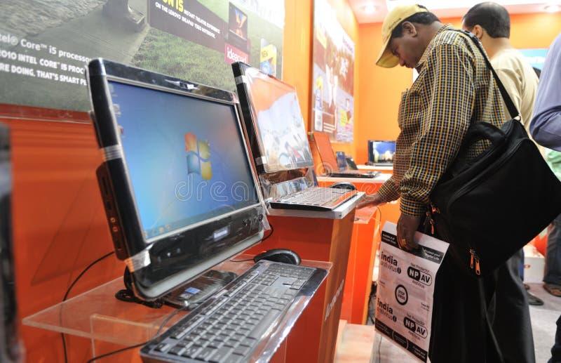 Technologie Informatyczne I Komunikacyjne jarmark. obrazy stock