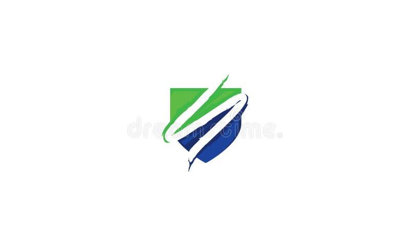 Technologie initiale de vecteur d'icône de logo de bouclier de S illustration libre de droits