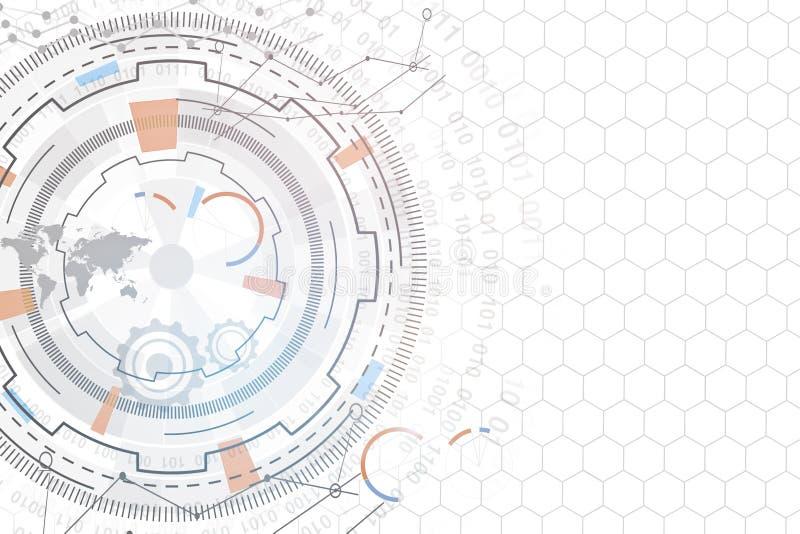 Technologie, innovatie en communicatie concept royalty-vrije illustratie