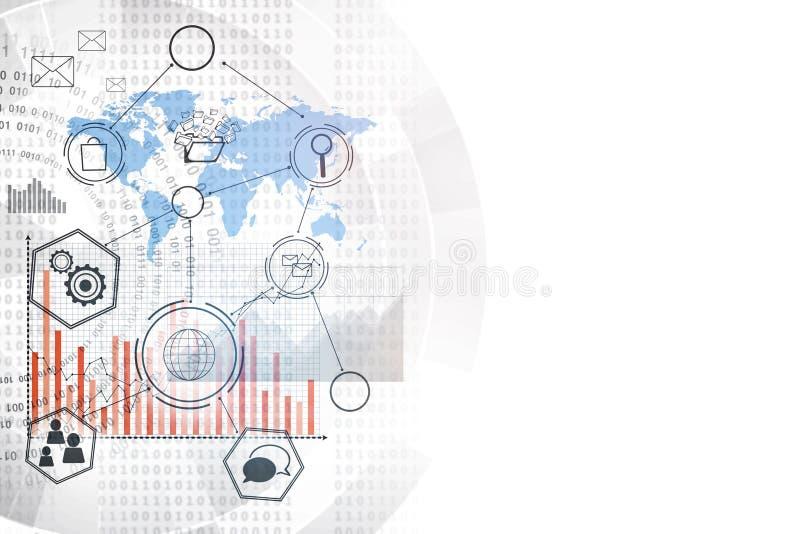 Technologie, innovatie en interfaceconcept royalty-vrije illustratie