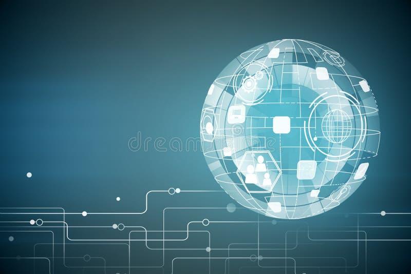 Technologie, innovatie en toekomstig concept royalty-vrije illustratie