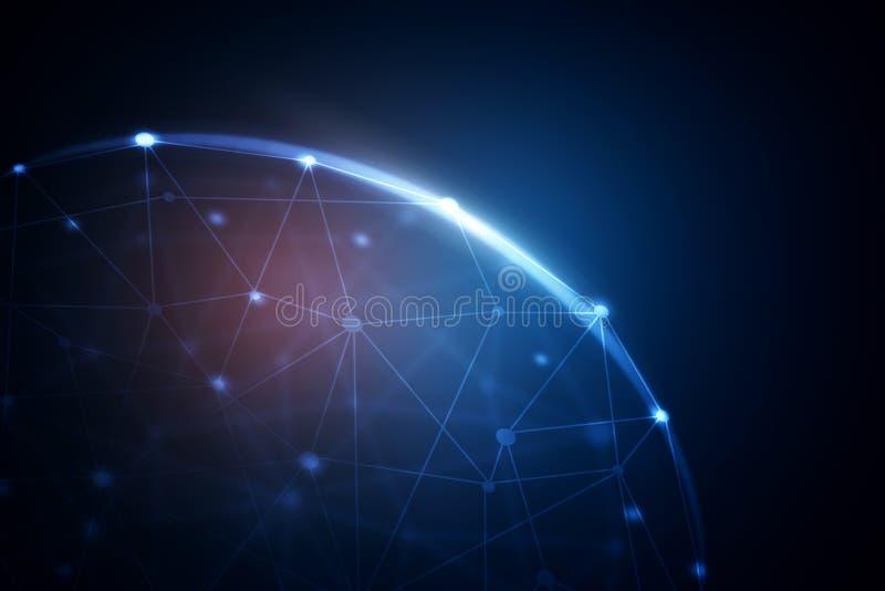 Technologie-, Innovations- und Kommunikationskonzept stock abbildung