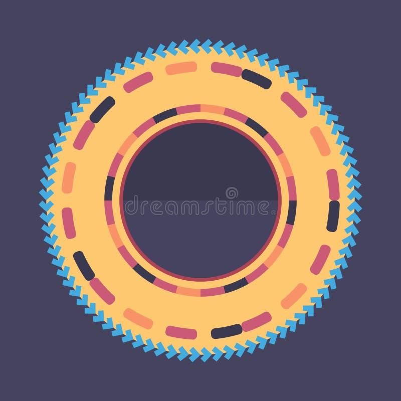 Technologie kleurrijke ronde achtergrond Abstracte digitale illustratie Het concept van de aansluting Elektronisch rond ontwerp M stock illustratie