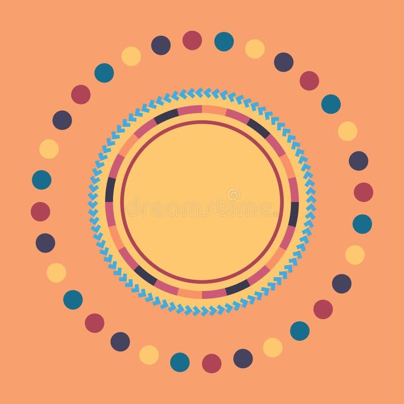 Technologie kleurrijke ronde achtergrond Abstracte digitale illustratie Het concept van de aansluting Elektronisch rond ontwerp M royalty-vrije illustratie