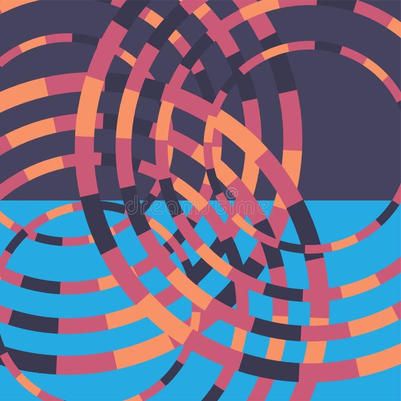 Technologie kleurrijke ronde achtergrond Abstracte digitale illustratie Het concept van de aansluting Elektronisch rond ontwerp M vector illustratie