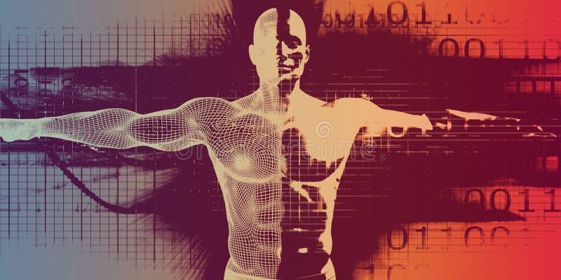 Technologie médicale avancée illustration de vecteur