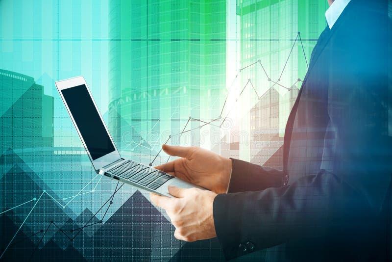 Technologie, markt en communicatie concept royalty-vrije stock foto