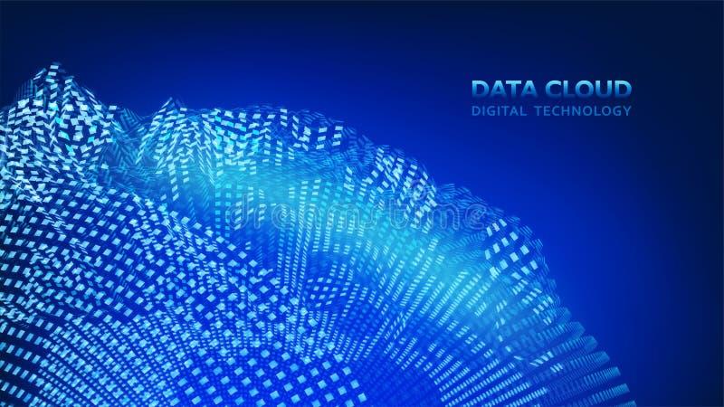 Technologie moderne de nuage Nuage de donn?es Technologie num?rique Fond numérique intégré de concept de Web, vecteur EPS10 illustration de vecteur