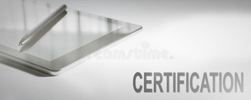Technologie numérique de concept d'affaires de CERTIFICATION photos libres de droits
