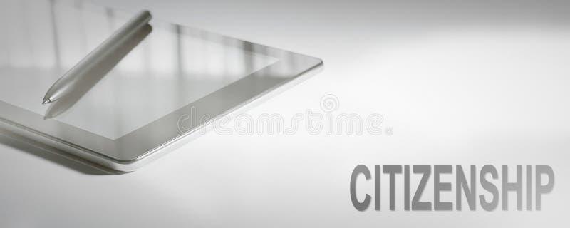 Technologie numérique de concept d'affaires de CITOYENNETÉ images stock