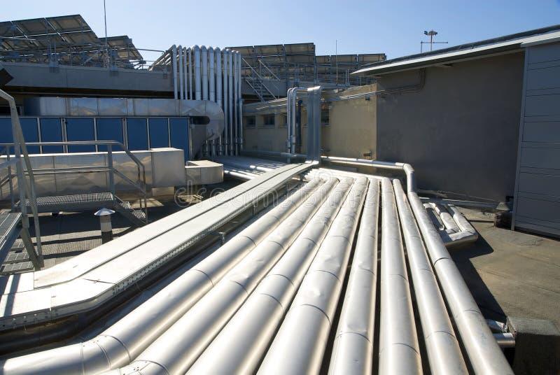 Technologie op het dak stock afbeelding