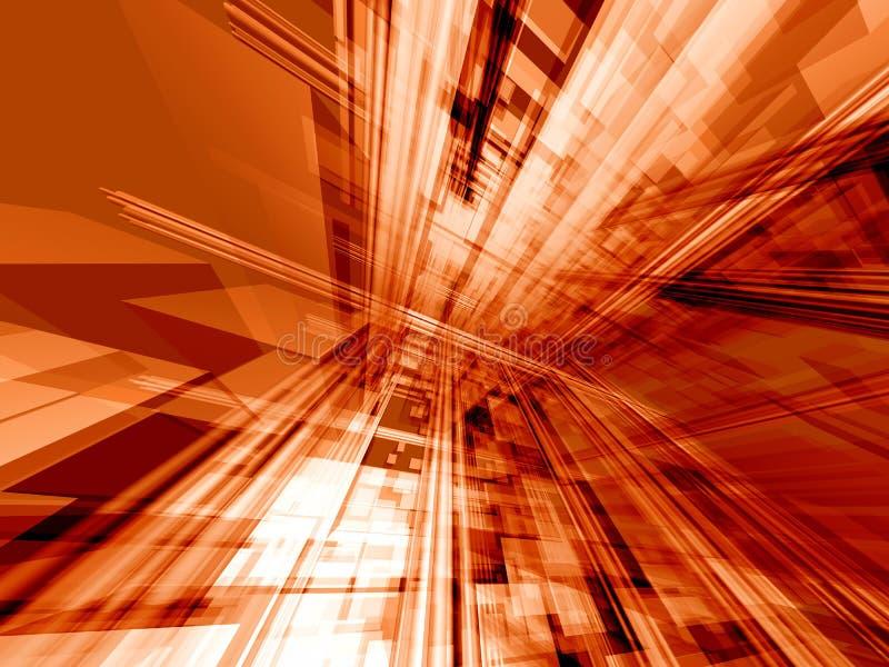 Technologie orange d'action illustration de vecteur