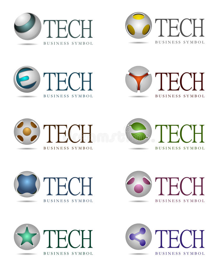 Technologie-pictogrammen royalty-vrije illustratie