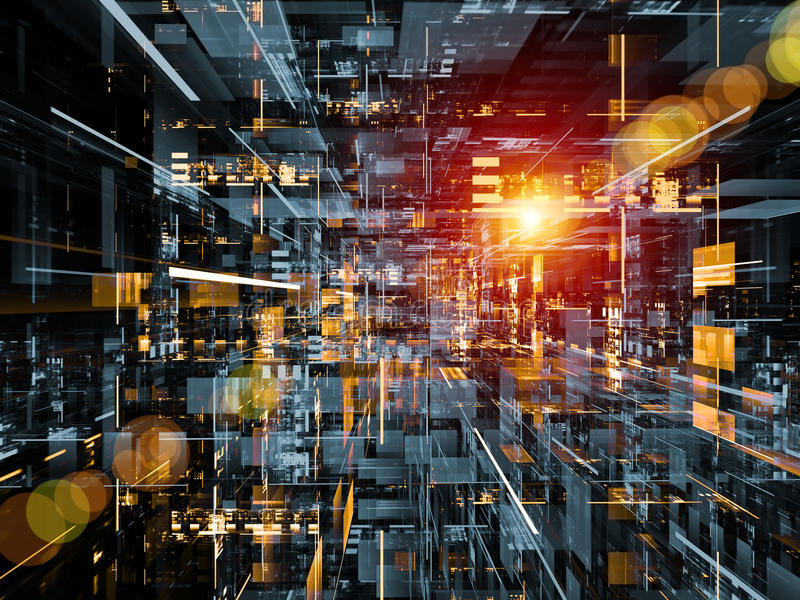 Technologie-Platz stockfoto