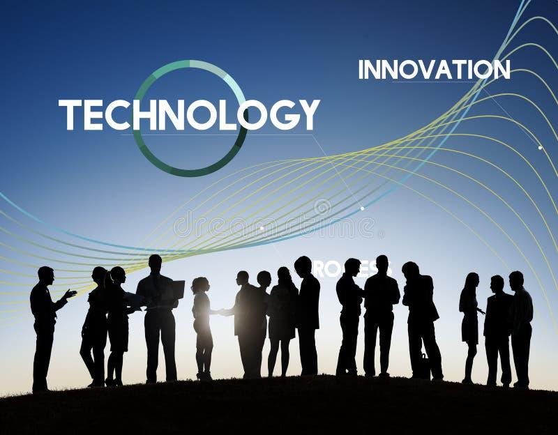 Technologie-Prozess erneuern Netz-Daten-Konzept lizenzfreie stockfotografie