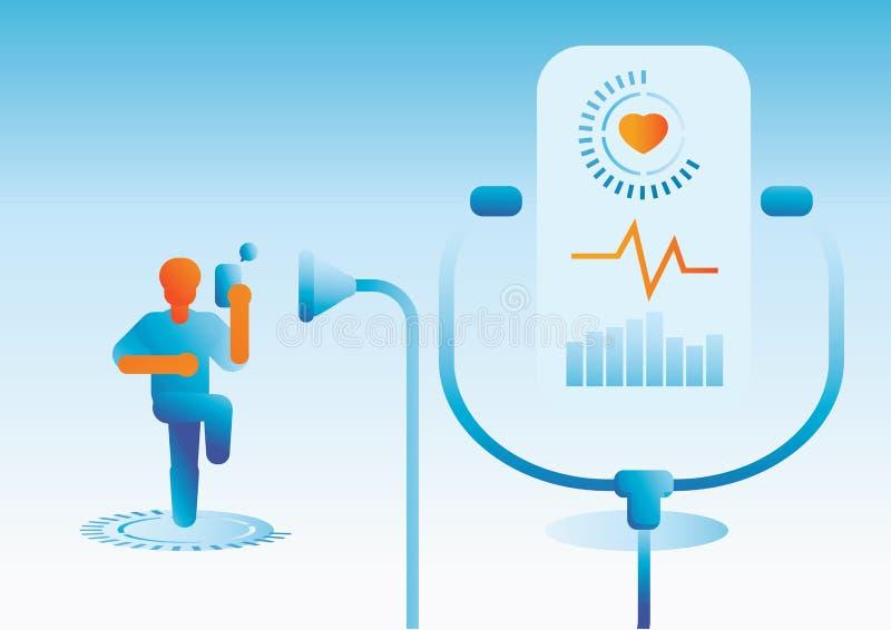 Technologie quotidienne de contrôle de corps de soins de santé illustration libre de droits